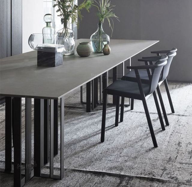 707-high quality modern light luxury metal dining table made by china luxury and modern furniture factory and company-furbyme (4)