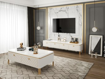 byf462 China High end design Luxury Living Room Furniture TV Cabinet