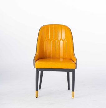 DKF13china contemporary modern home furniture kitchen leather dining chair manufacturer