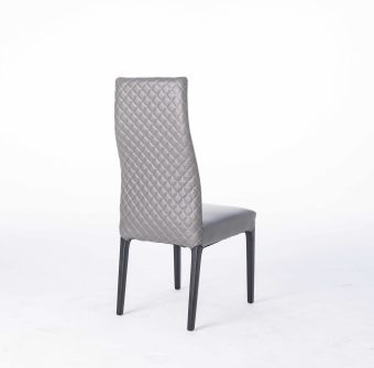 dkf14-1china contemporary modern home furniture kitchen leather fabric dining chair manufacturer (1)
