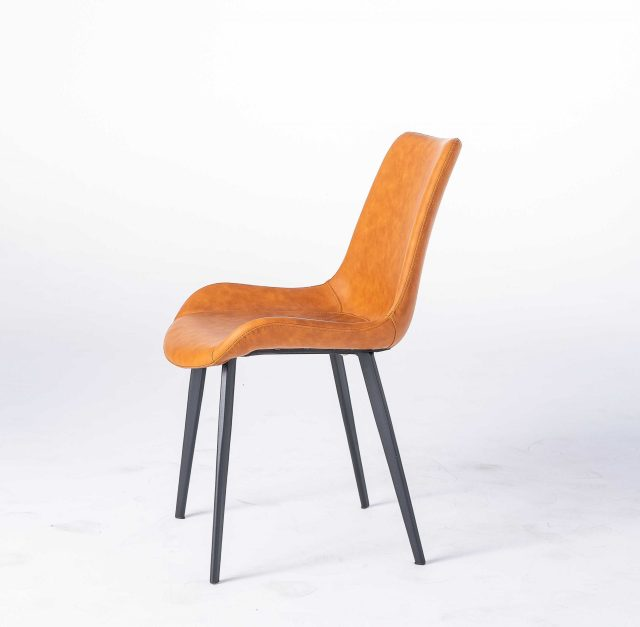dkf15china contemporary modern home furniture kitchen leather fabric dining chair manufacturer (8)