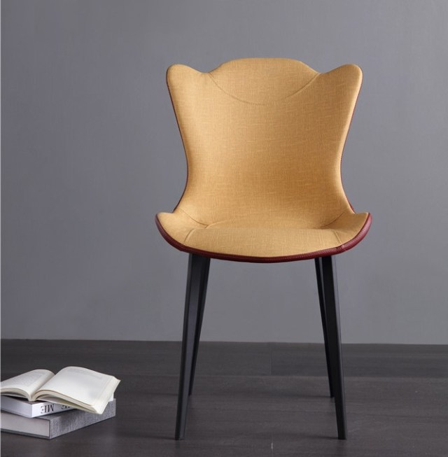 dkf69-china modern design home kitchen metal leather dining chair supplier manufacturer-furbyme (1)