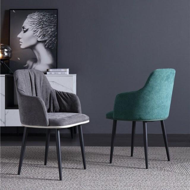dkf74-china modern design home kitchen metal fabric dining chair supplier manufacturer-furbyme (1)