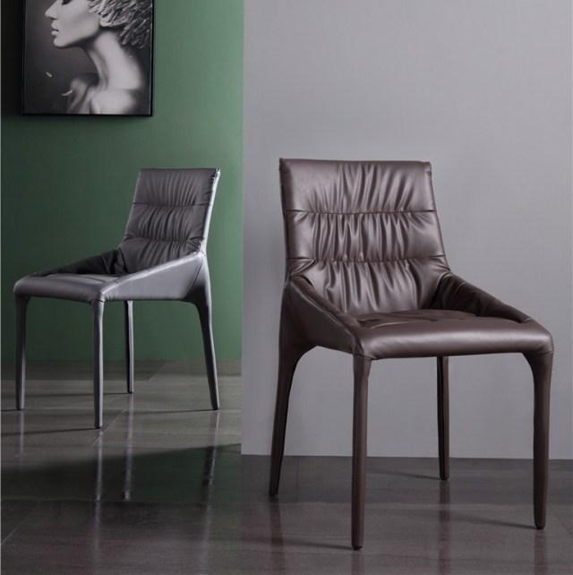 dkf77-china modern design home kitchen metal leather dining chair supplier manufacturer-furbyme (1)