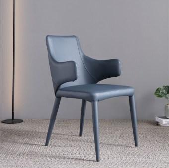 dkf83-china modern design home kitchen metal leather dining chair supplier manufacturer-furbyme (1)