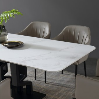dkf718-china modern luxury home furniture metal slate mable top kitchen dining table supplier manufacturer factory company-furbyme (2)