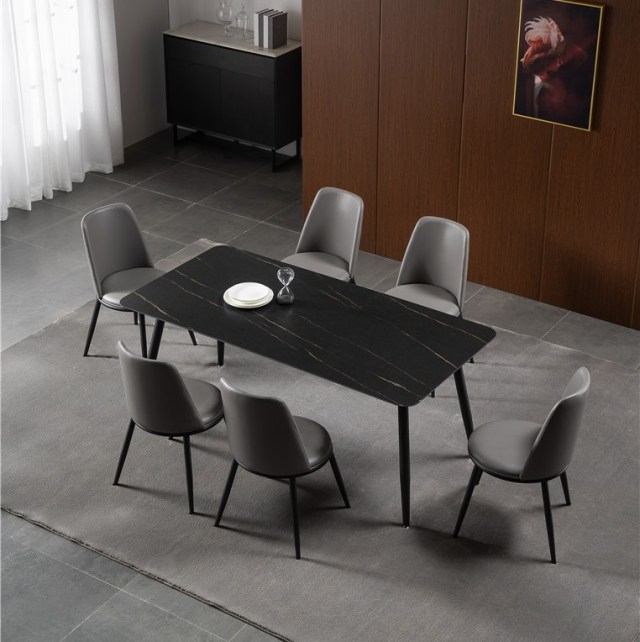 dkf741china modern luxury home furniture metal slate mable top kitchen dining table supplier manufacturer factory company-furbyme (4)