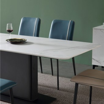 dkf748-china modern luxury home furniture metal slate mable top kitchen dining table supplier manufacturer factory company-furbyme (5)