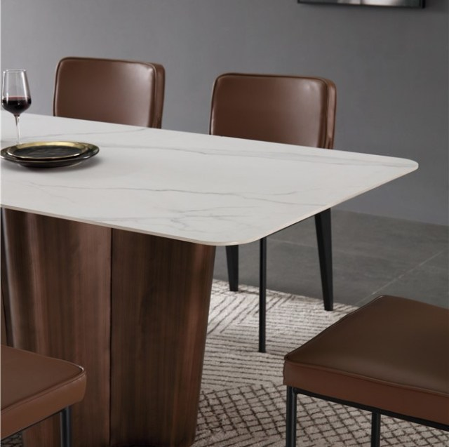 dkf749-china modern luxury home furniture metal slate mable top kitchen dining table supplier manufacturer factory company-furbyme (5)