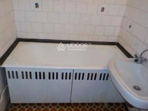 Öntöttvas fürdőkád lemez burkolattal