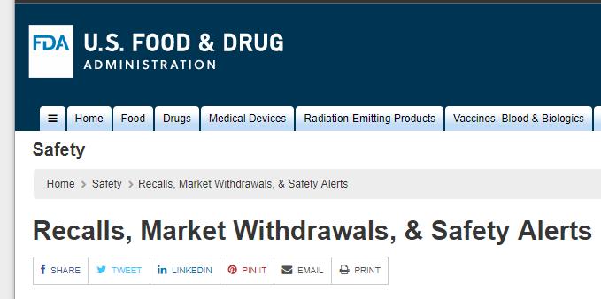 https://www.fda.gov/Safety/Recalls/default.htm