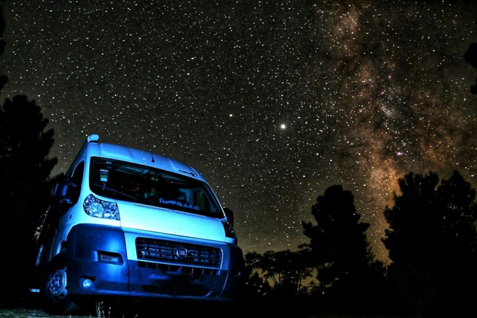 Observación de estrellas, Sierra de Gata