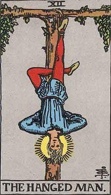 吊るし人のタロットカード
