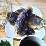 『ナスの天ぷら』と『冷そうめん』のレシピと作り方