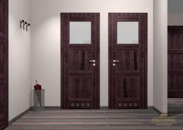 Łazienkowe drzwi z amarantu
