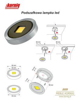 Wymiary nowoczesnej lampki ledowej podszafkowej