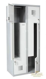 Szafka BHP 80 cm z czterema drzwiami w kształcie litery L