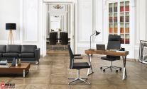 Luksusowy zestaw foteli gabinetowych myTurn do gabinetu prezesa