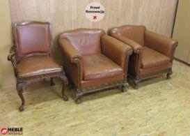 Komplet foteli Chippendale rzed renowacją