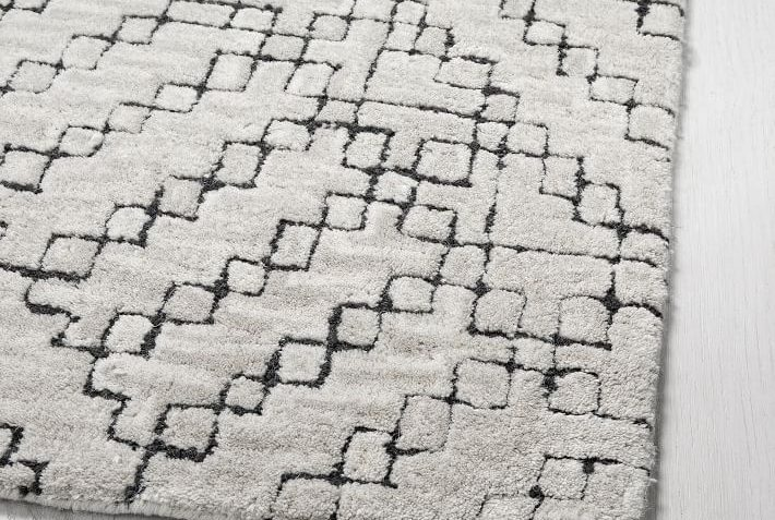 west elm stone tile rug review