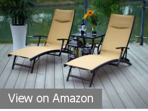Pebble Lane Chaise Folding Lounger