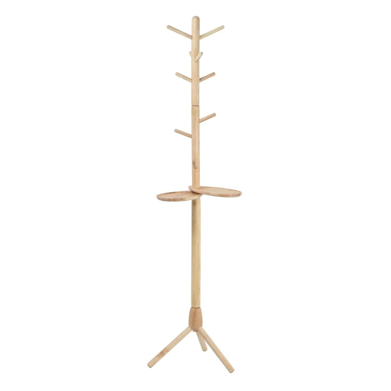 solid wood coat rack