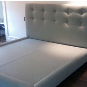 Custom bed and headboard