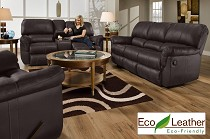 Affordable leather living room set from The RoomPlace