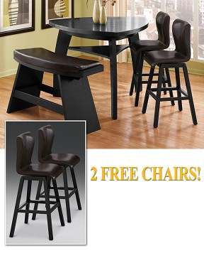 The Irma Collection  |  4 Pc. Dinette Plus Two Free Chairs