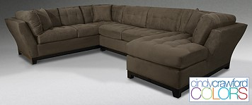 3 Piece Sectional Cindy Crawford Furniture from The RoomPlace