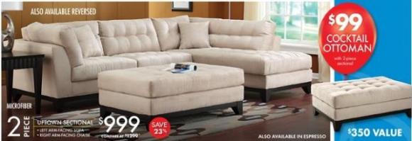 Affordable Microfiber Sectional Sofa