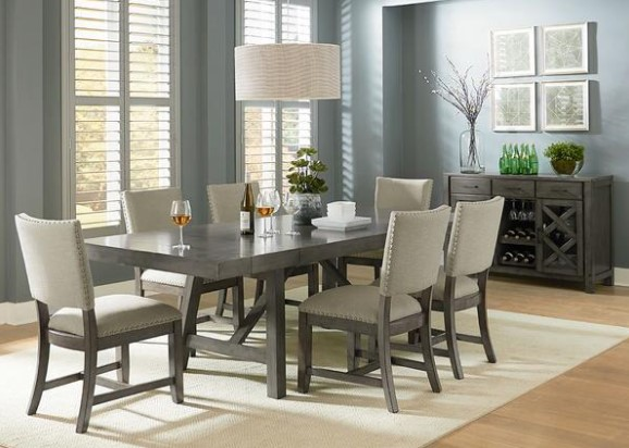 Caroline 5 Piece Upholstered Dining Room From The RoomPlace