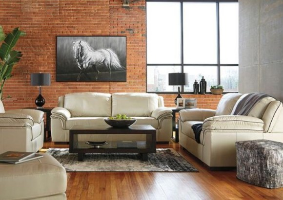 Dakota Vanilla 3 Pc. Living Room from The RoomPlace