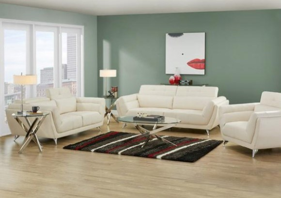 Mars White 3 Pc. Living Room Set from The RoomPlace