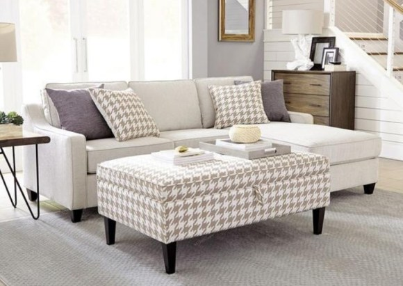 Montgomery 2 Pc. Sofa Chaise W/Ottoman By Scott Living at The RoomPlace