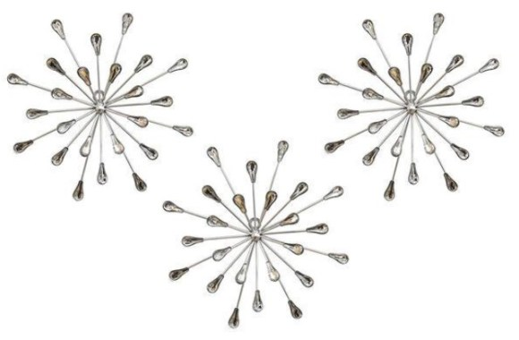 Acrylic Burst 3 Pc. Wall Décor from The RoomPlace