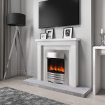 Grade A1 Amberglo Modern Electric Fireplace Insert In Brushed Steel With Coals