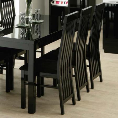 Zone Dazzle High Gloss Black Slat Back Dining Chair