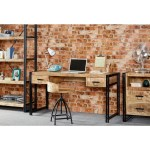 Industrial Home Office Desk With Storage Drawers Cosmo Range Furniture123