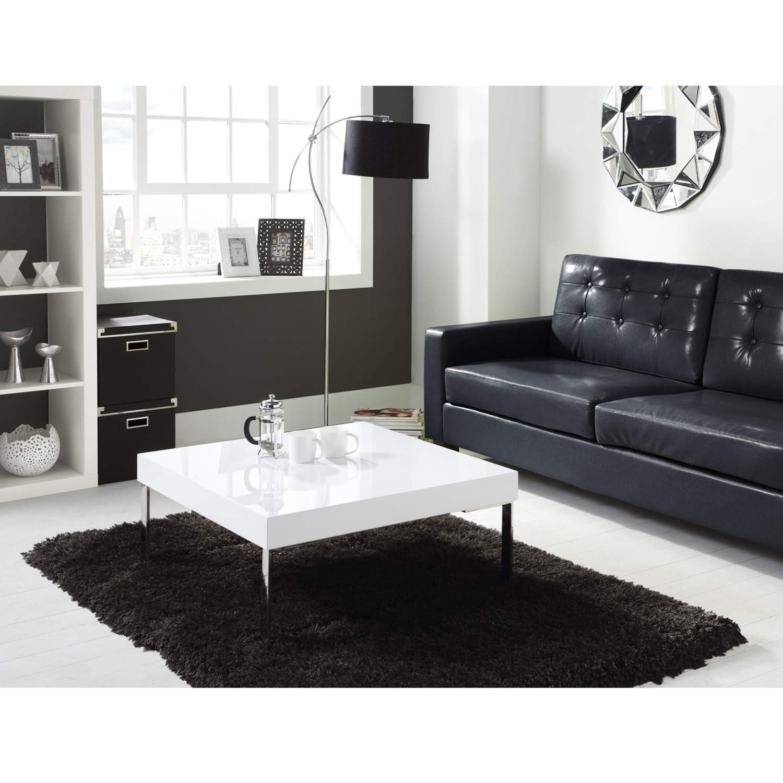 high gloss square white coffee table tiffany range