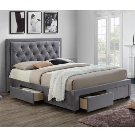 Birlea Woodbury Super King Upholstered Grey Ottoman Bed Furniture123