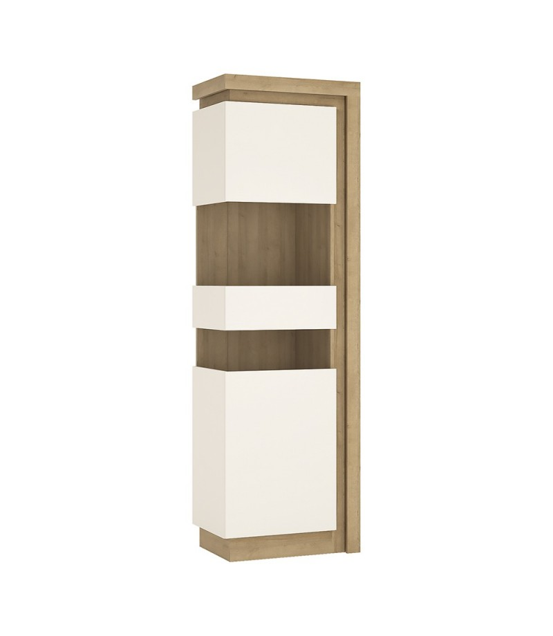 tall narrow display cabinet lhd including led lighting