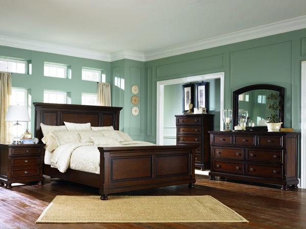 porter 6 piece panel bedroom set