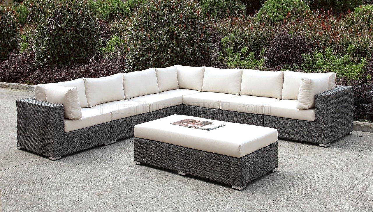 Somani CM-OS2128-11 Outdoor Patio L-Shaped Sofa & Bench Set