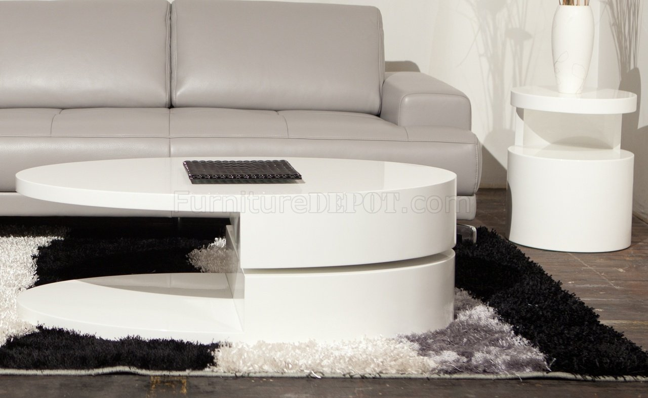 Ergo Coffee Table By Beverly Hills In White High Gloss W