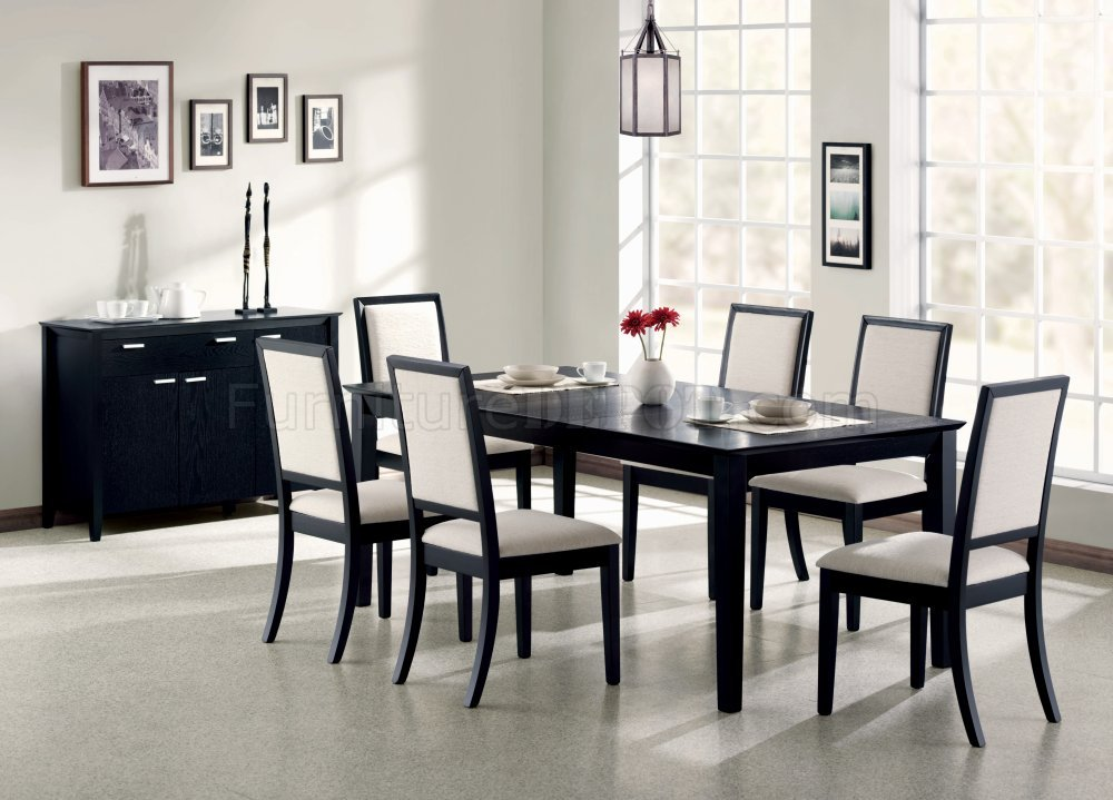 Louise Dining 7Pc Set 101561 In Black By Coaster W/Options
