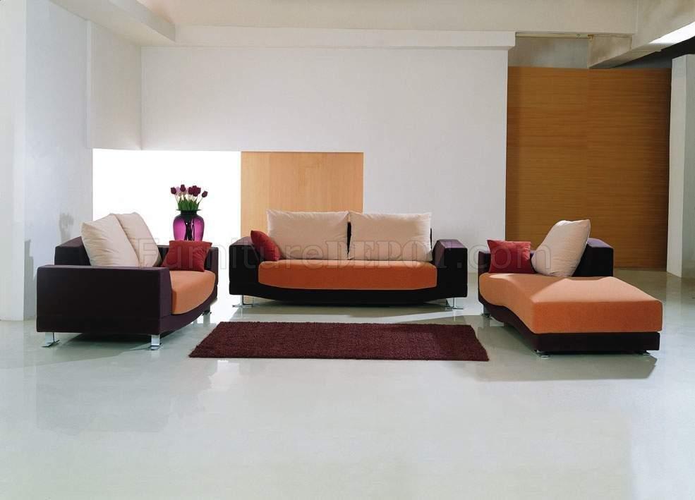 Microfiber Fabric 3PC Modern Living Room Set G11A Multi-Tone