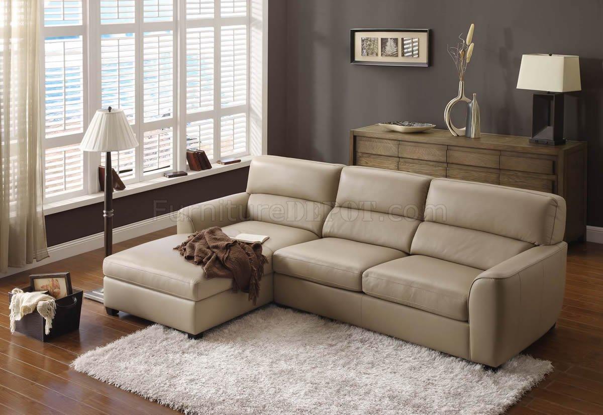Modern Beige Leather Sofa Living Room Ideas Novocom Top