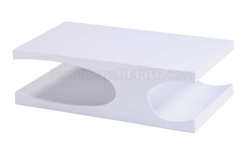 Anvil Coffee Table In High Gloss White Or Grey By J&M W