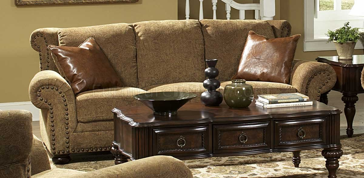 Floral Chenille Stylish Living Room Sofa & Loveseat Set
